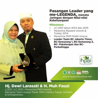 Dewi Larasati sukses suami istri di hpai