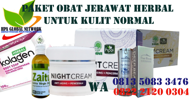 Jual Paket Obat Jerawat Herbal HPAI Untuk Kulit Normal di Bandung