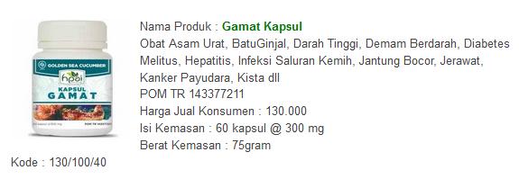 Gamat Kapsul salah satu Sinergi Herba HNI HPAI sebagai Obat Herbal Asma