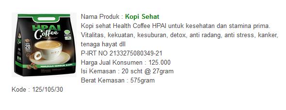 Obat Herbal Asma - Kopi Sehat HPAI