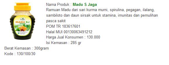 Obat Herbal Asma - madu S Jaga