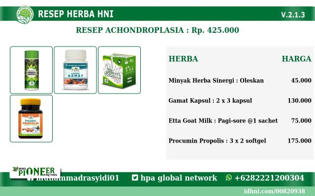 Resep Herbal HNI HPAI Untuk Achondroplasia