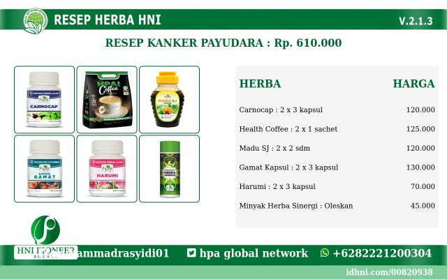 Jual Obat Kanker payudara Herbal Alami paling Ampuh tanpa Operasi di 10 Ilir Palembang