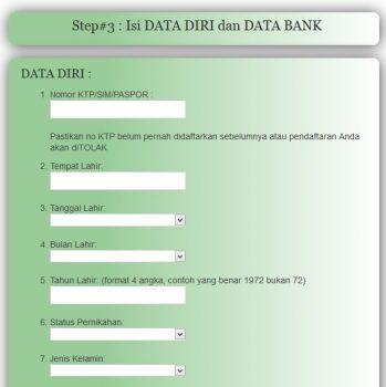 Cara Mendaftar Menjadi Agen HNI HPAI di hnipioneer.com- isi data bank