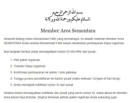 Cara Mendaftar Menjadi Agen HNI HPAI di hnipioneer.com
